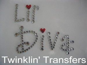 Rhinestone Transfer Hot Fix Iron On LIL' DIVA
