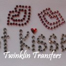 Rhinestone Iron On Transfer GOT KISSES LIPS VALENTINES