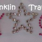 Rhinestone Iron On Hot Fix Transfer ROCK STAR HOT PINK