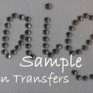 Rhinestone Transfer Iron On PERSONALIZED CUSTOM NAME #2