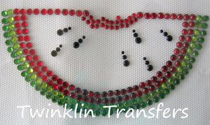 Rhinestone Transfer Iron On Hot Fix WATERMELON RED