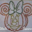 Rhinestone Iron On Transfer MINNIE PUMPKIN HALLOWEEN