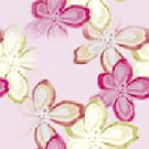 Rhinestone Hot Fix Ironon Transfer HIBISCUS FLOWER PINK