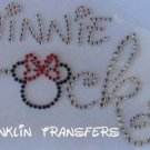 Rhinestone Iron On Hot Fix Transfer MINNIE ROCKS DISNEY
