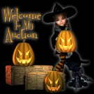 Rhinestone Transfer Hot Fix Iron On HALLOWEEN BAD WITCH