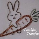 Rhinestone Transfer Iron On CHOCOLATE EASTER BUNNY