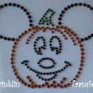 Rhinestone Hot Fix Iron On Transfer MICKEY PUMPKIN