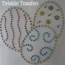 Rhinestone Transfer Iron On SPRING EASTER EGG PASTEL