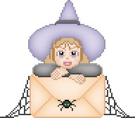 Rhinestone Iron On Transfer LIL WITCH HAT HALLOWEEN