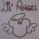 Rhinestone Iron On Transfer LIL ANGEL MICKEY WINGS HALO