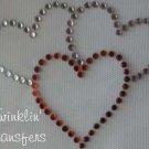 Rhinestone Transfer Iron On VALENTINES HEARTS PINK RED