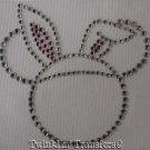 Rhinestone Iron On Transfer MICKEY EASTER BUNNY EARS