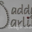Rhinestone Iron On Transfer DADDYS DARLING FATHERS DAY