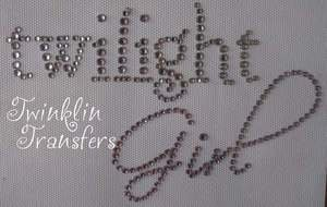 Rhinestone Transfer Iron On TWILIGHT GIRL