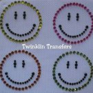 Rhinestone Iron On Transfer RETRO HAPPY FACE GROOVY