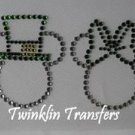 Rhinestone Transfer Iron On MICKEY MINNIE SHAMROCKS