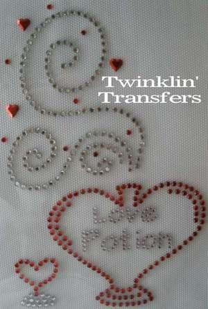 Rhinestone Transfer Iron On VALENTINE LOVE POTION HEART