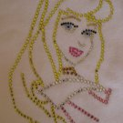 Rhinestone Hot Fix Iron Transfer AURORA SLEEPING BEAUTY