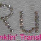 Rhinestone Transfer Hot Fix Iron On I RUN TRACK