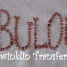 Rhinestone Hot Fix Iron On Transfer PINK FABULOUS