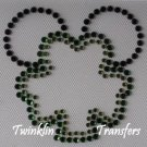 Rhinestone Transfer Hot Fix Iron On MICKEY SHAMROCK