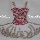 Rhinestone Hot Fix Iron On Transfer PINK PRINCESS TUTU