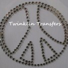 Rhinestone Transfer Iron On PEACE SIGN RETRO GROOVY