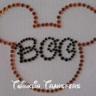 Rhinestone Iron On Transfer MICKEY DISNEY BOO HALLOWEEN