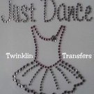 Rhinestone Transfer Iron On JUST DANCE TUTU BALLET