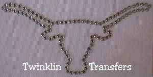 Rhinestone Hot Fix Iron On Transfer TEXAS LONGHORN