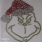 Rhinestone Transfer Iron On CHRISTMAS GRINCH SANTA HAT
