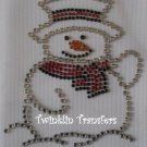 Rhinestone Hot Fix Iron On Transfer SNOWMAN #2