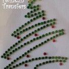 Rhinestone Hot Fix Iron On Transfer CHRISTMAS TREE Star