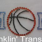 Rhinestone Transfer Hot Fix Iron On BASKETBALL MOM