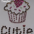 Rhinestone Hot Fix Iron On Transfer CUPCAKE CUTIE