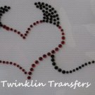 Rhinestone Transfer Iron On  LIL DEVIL HEART HORNS