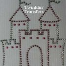Rhinestone Transfer Iron On PINK PRINCESS CASTLE