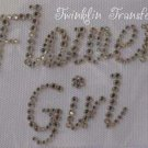 Rhinestone Transfer Iron On FLOWER GIRL WEDDING BRIDE