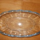 Cut Glass Oblong Light Blue Candy Dish