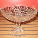 Cut Glass Candy Dish (Platter) on Pedastal