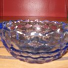 Cut glass Dark Blue Round Candy Dish