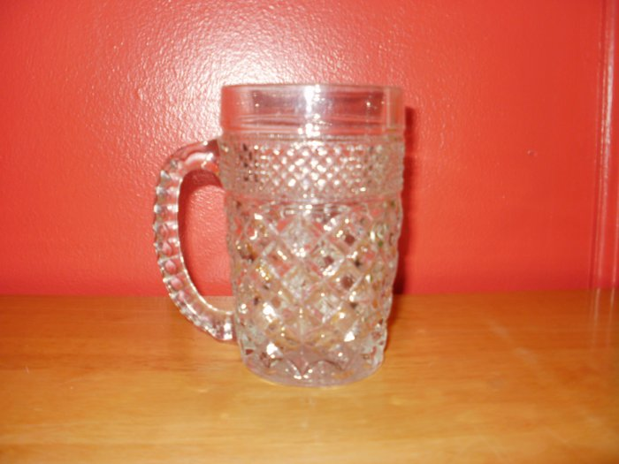 Cut Glass Mug with Handle