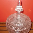 Cut Glass Large Candy Dish with Tower Lid