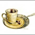 Stil Life Coffee cup Print Watercolor Painting Fine Art Home Decor Realistic Kitchen Art