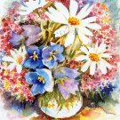 Bouquet Print Watercolor Painting Summer Flowers Home Decor