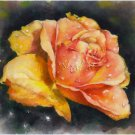 Yellow Rose Print Watercolor Panting Realistic Flowers Summer Garden Home Decor Gift