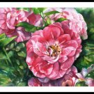 Watercolor painting  Roses Floral print Summer garden Home decor Gift