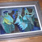 Very Rare Harris G. Strong Framed Tile Art