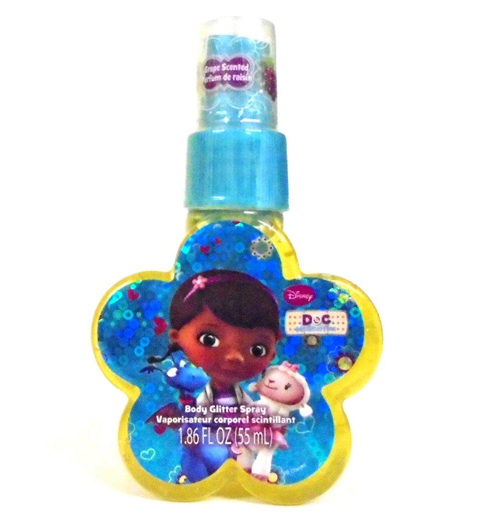 Disney Doc McStuffins Body Spray Glitter Grape Scented Bath Perfume