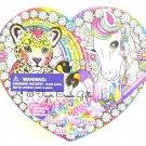 Lisa Frank RARE Heart Box Design Your Own Craft Kit Majesty Horse Hunter Leopard Edition